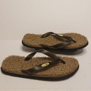 3910a2d9f6d6 Sanuk slide flops men s size 8.5